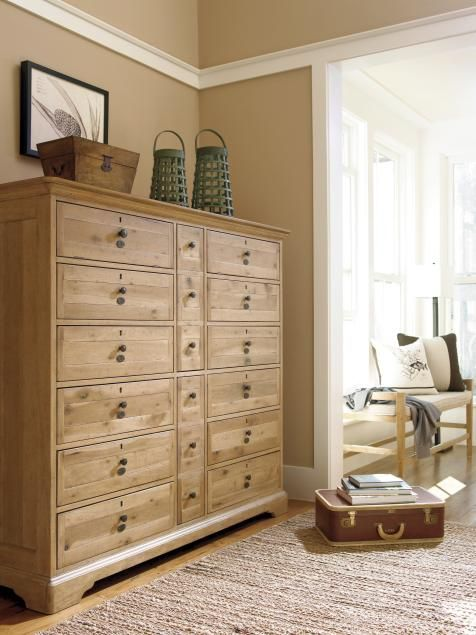 This Beautiful Oversized Dresser Made Of Bleached Wood Has Plenty
