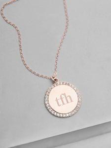 Sparkle Name Coin Necklace  Gold  Gold coin necklace