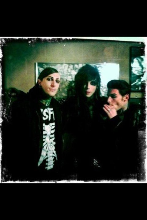 Chris Motionless, Andy Biersack and William Control