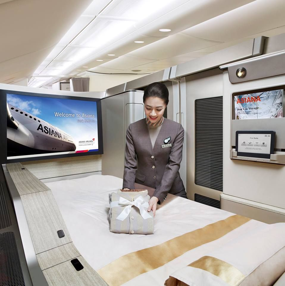 Step into the world of the First Suite on the ASIANA380