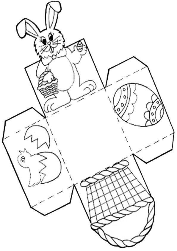 Ausmalbilder Ostern Basteln Easter Basket Crafts Printable Easter Activities Easter Basket Template