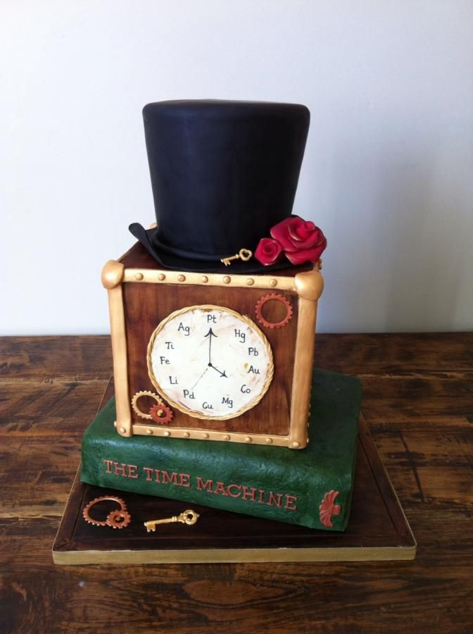 Steampunk 40th Birthday Cake by FrancesBakes