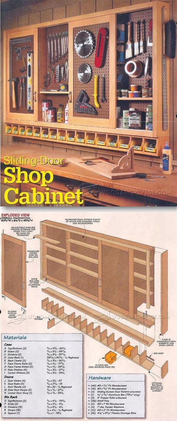 Shop Pegboard Cabinet Plans   Workshop Solutions Plans, Tips And Tricks |  WoodArchivist.com