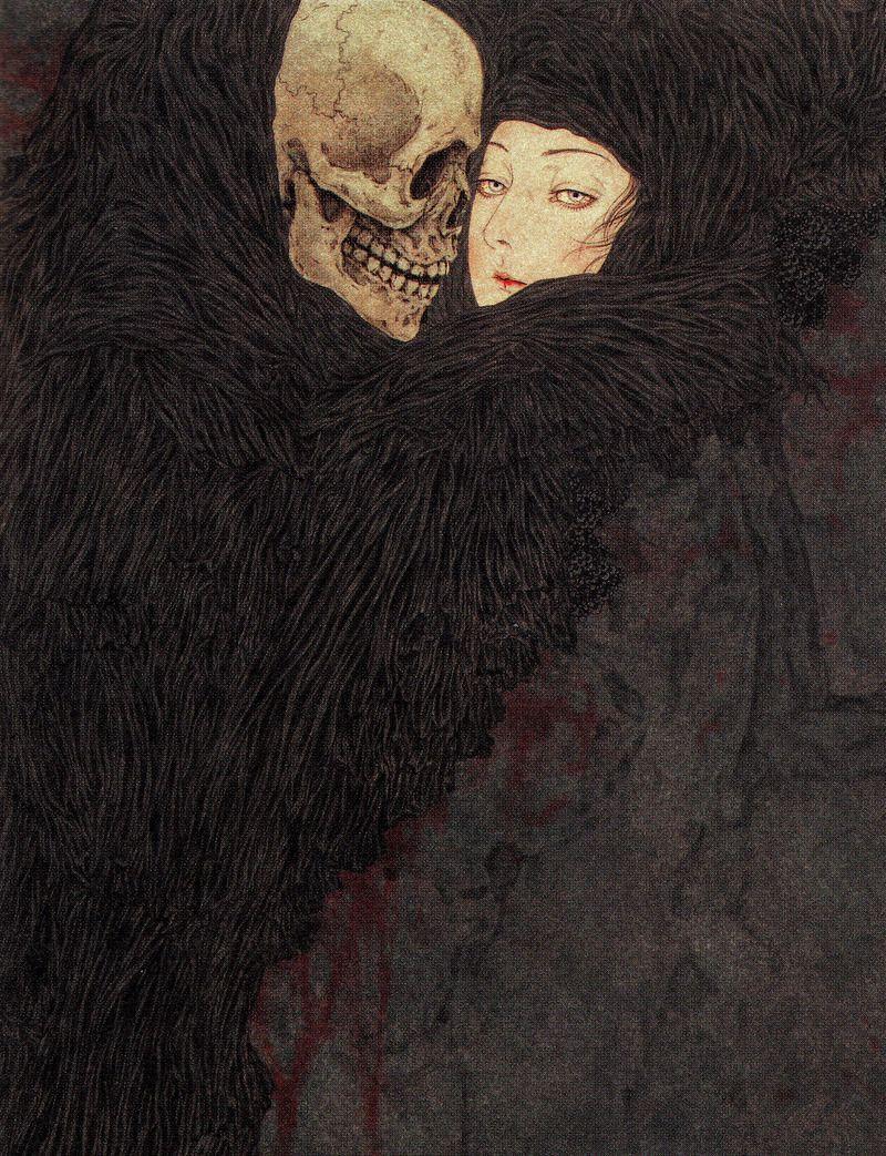 Moon Tsuru Horror Art Art Dark Art