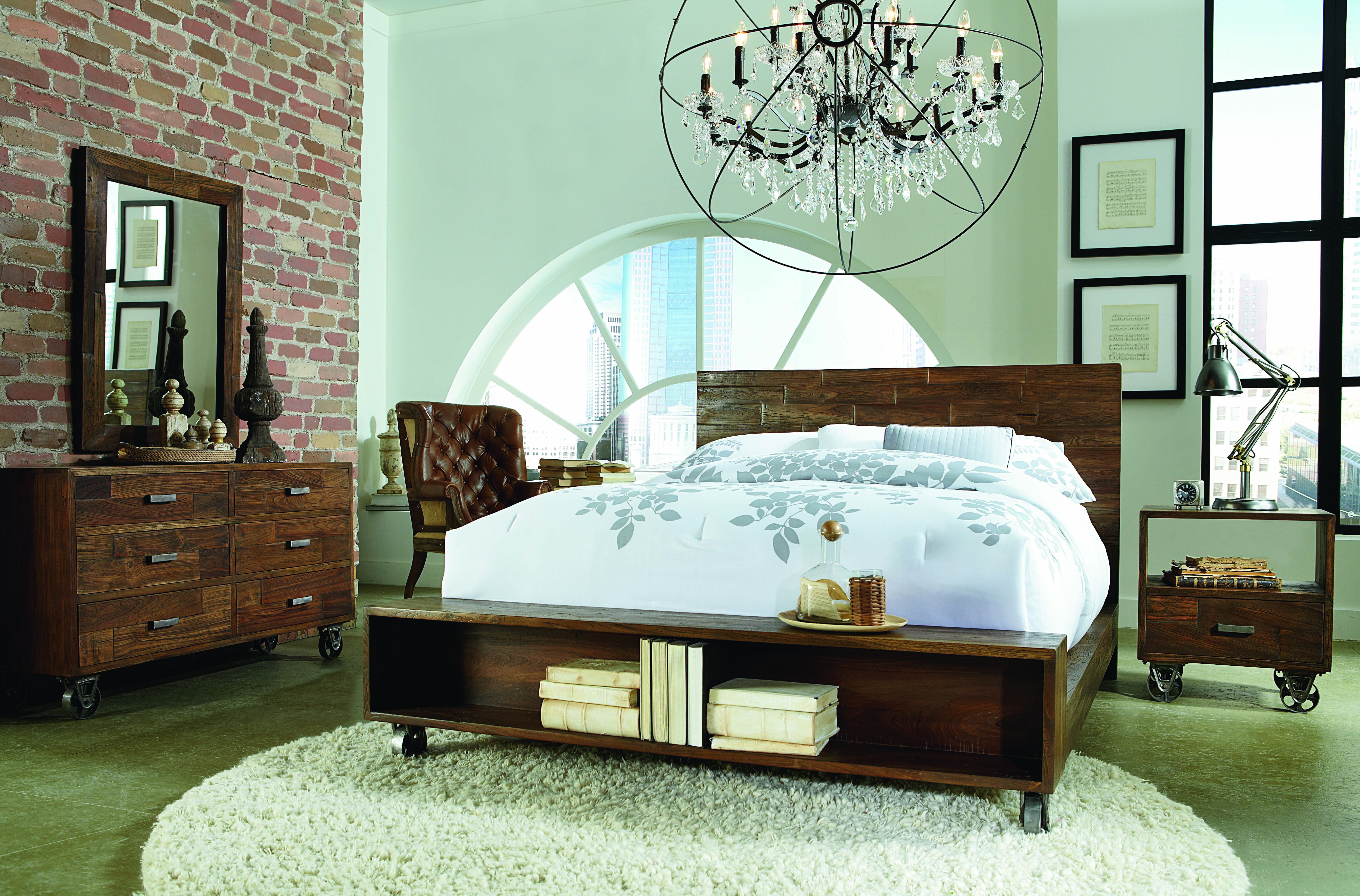 Denison tx industrial style industrial loft beds - Industrial style bedroom furniture ...