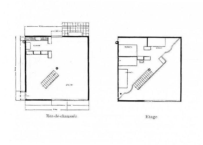 Le corbusier casas en serie para artesanos plantas - Casas de le corbusier ...