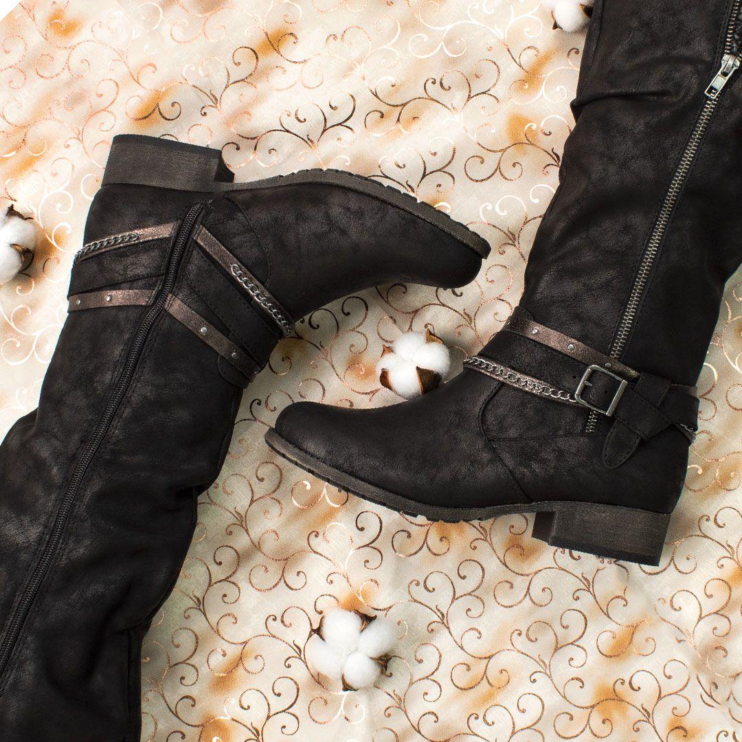 Women S Jellypop Sierra Black Zipper Boots Buckle Dress Boots Boots Womens Boots Dress Boots Women [ 1080 x 1080 Pixel ]