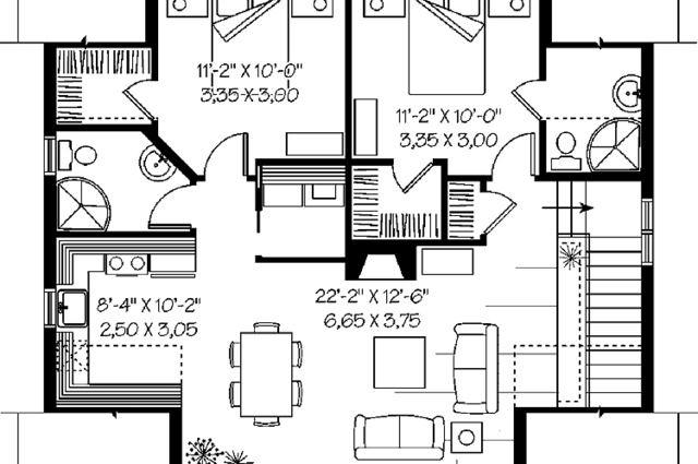 2 Bedroom Garage Apartment Plans | Garage apartment floor ...