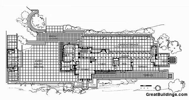 ENNISBrown House Frank Lloyd Wright – Ennis Homes Floor Plans