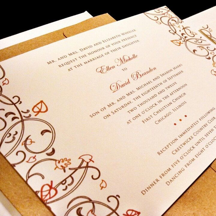 Leaves Tree Outdoor Flourish Custom Unique Leaf Wedding Invitation - invitation quotes for freshers party