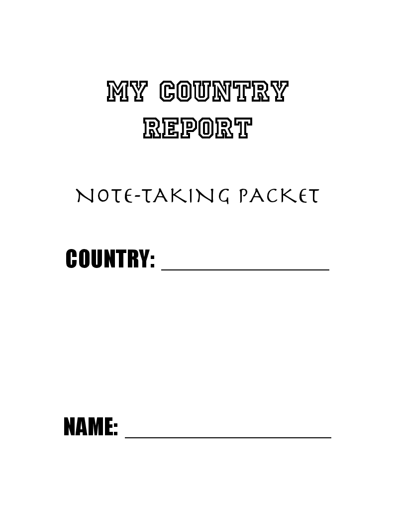 Country Report Template  Miss HeroldS Th Grade Classroom