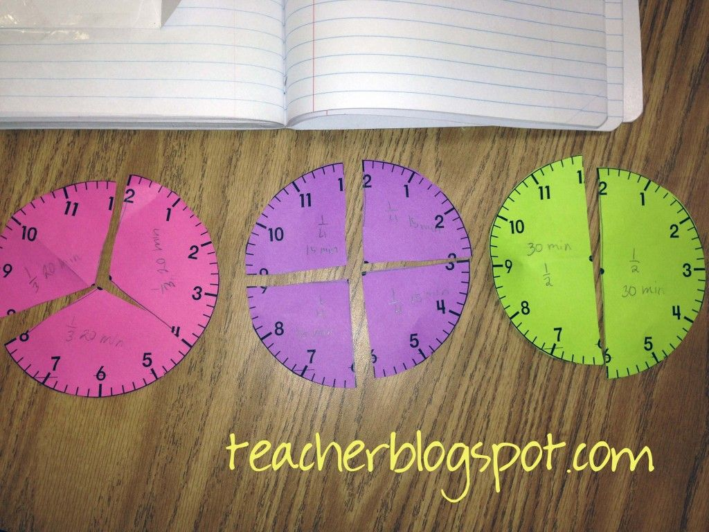 Further The Understanding Of Half Hour Quarter Hour By Using These Fraction Pieces Have
