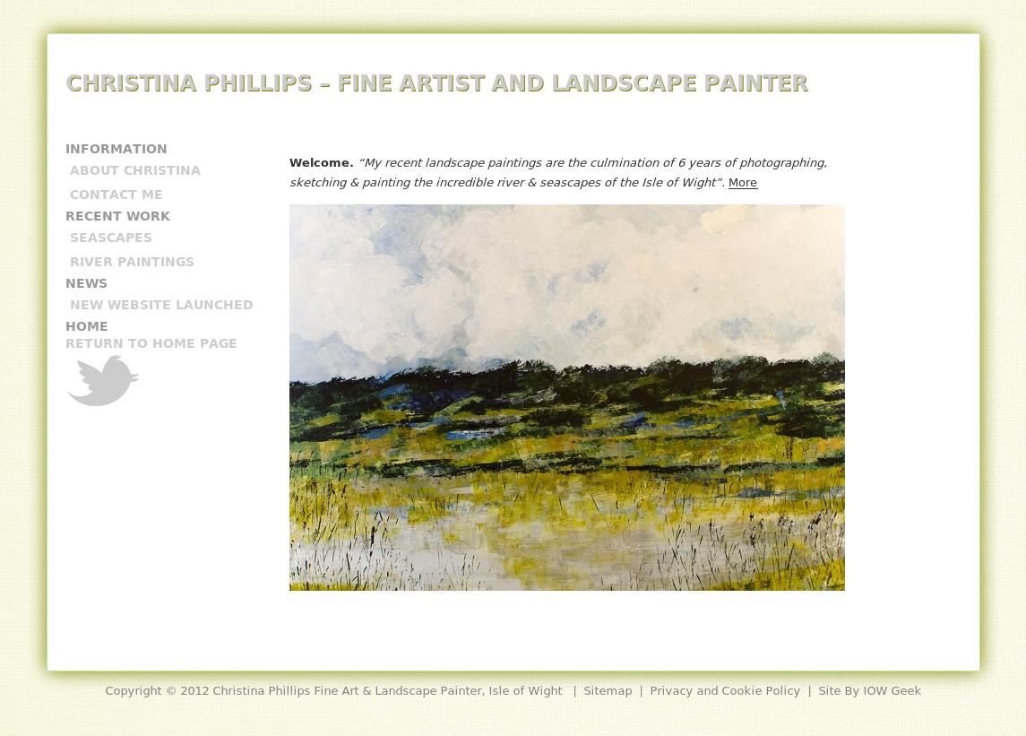 Christina Phillips Fine Art & Landscape Painter, Isle of Wight http://www.christinaphillipsartist.co.uk/