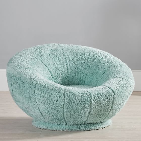 Cozy Sherpa Turquoise Groovy Swivel Chair With Images