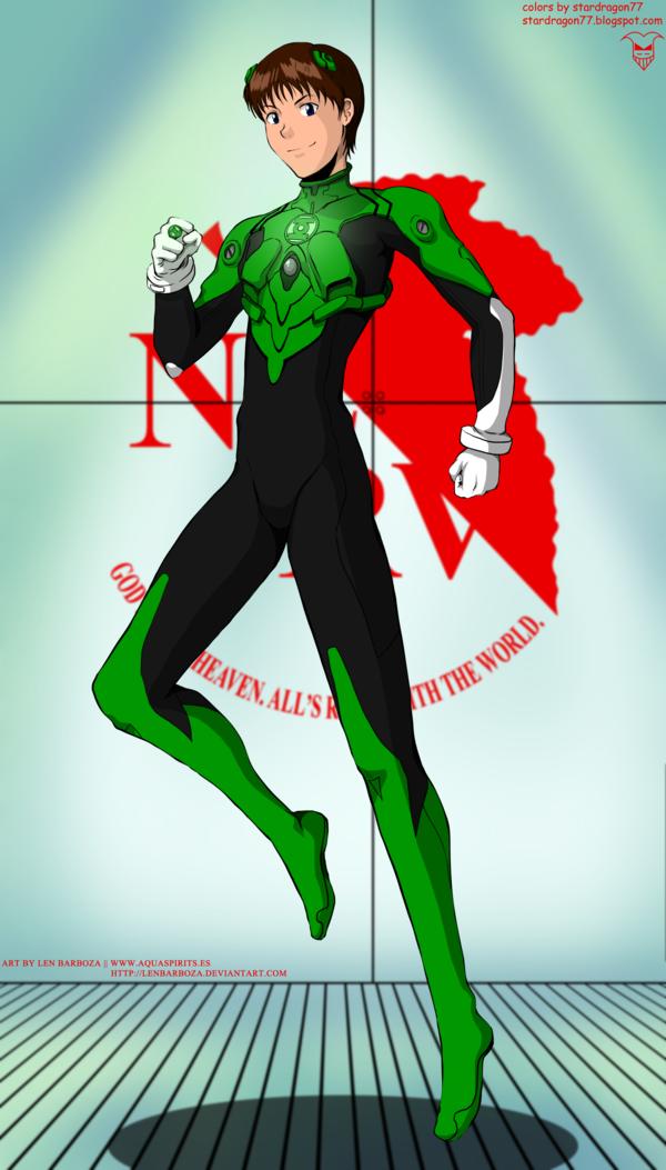 Green Lantern Shinji Jordan by StarDragon77