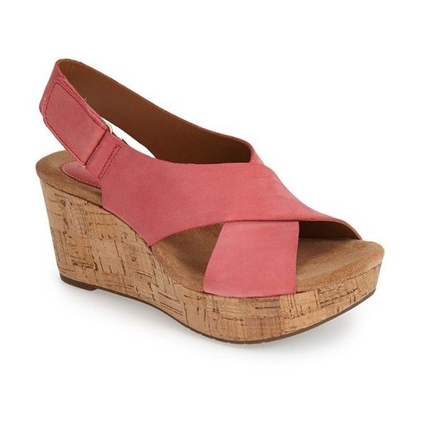 Womens Sandals Clarks Caslynn Shae Coral Nubuck