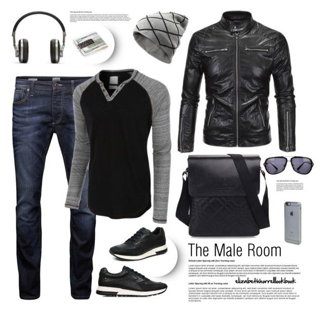 """THE MALE ROOM"" by elizabethhorrell ❤ liked on Polyvore featuring Jack & Jones, Master & Dynamic, Incase, LE3NO, Chrome Hearts, men's fashion and menswear"