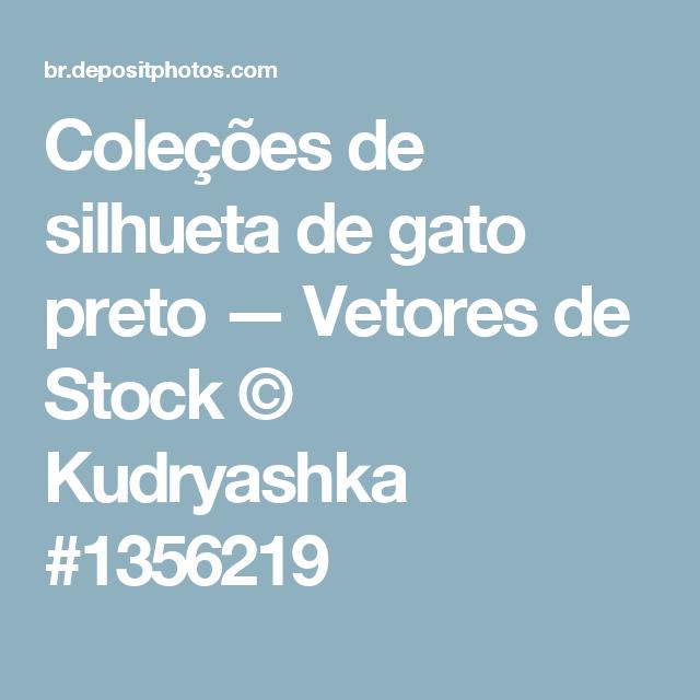 Coleções de silhueta de gato preto — Vetores de Stock © Kudryashka #1356219