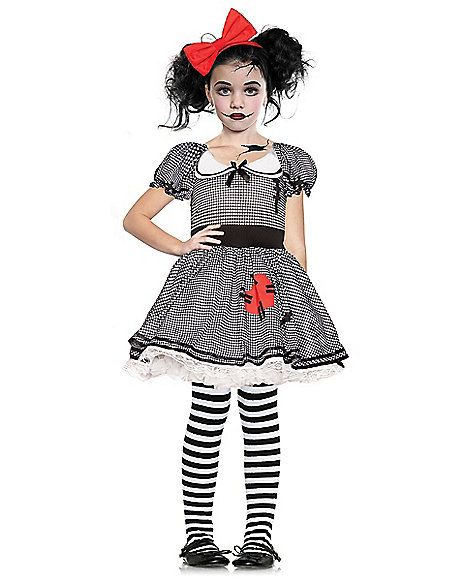 Kids Wind Up Doll Costume Spirithalloween Com Doll Halloween