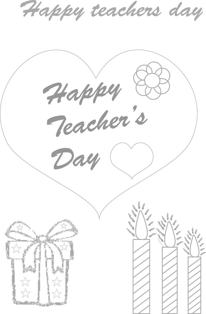 Teachers day coloring worksheets for kids 1 | worksheets for nursery ...
