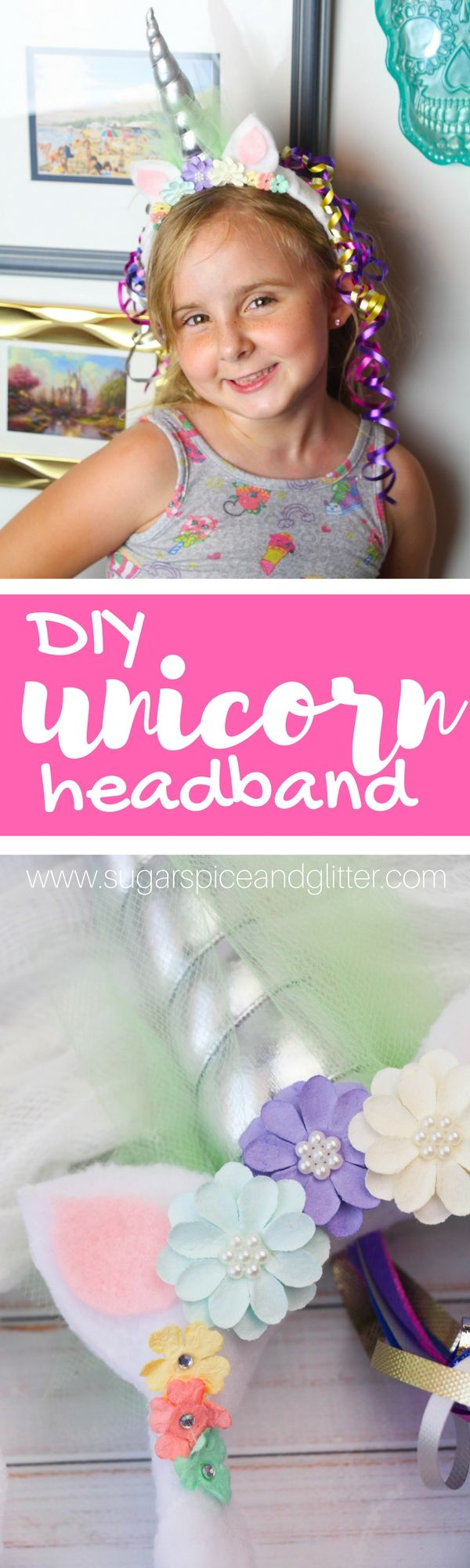 How cute is this Unicorn Headband kids can help make? Perfect for a DIY unicorn costume, a unicorn party or just a fun accessory for a unicorn-obsessed kid
