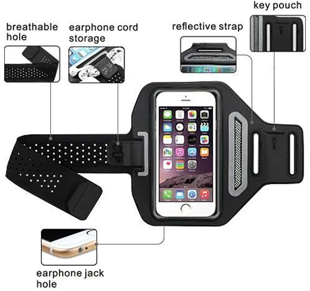 Quality Gym Running Sports Workout Armband Phone Case Cover Strap Alcatel A7