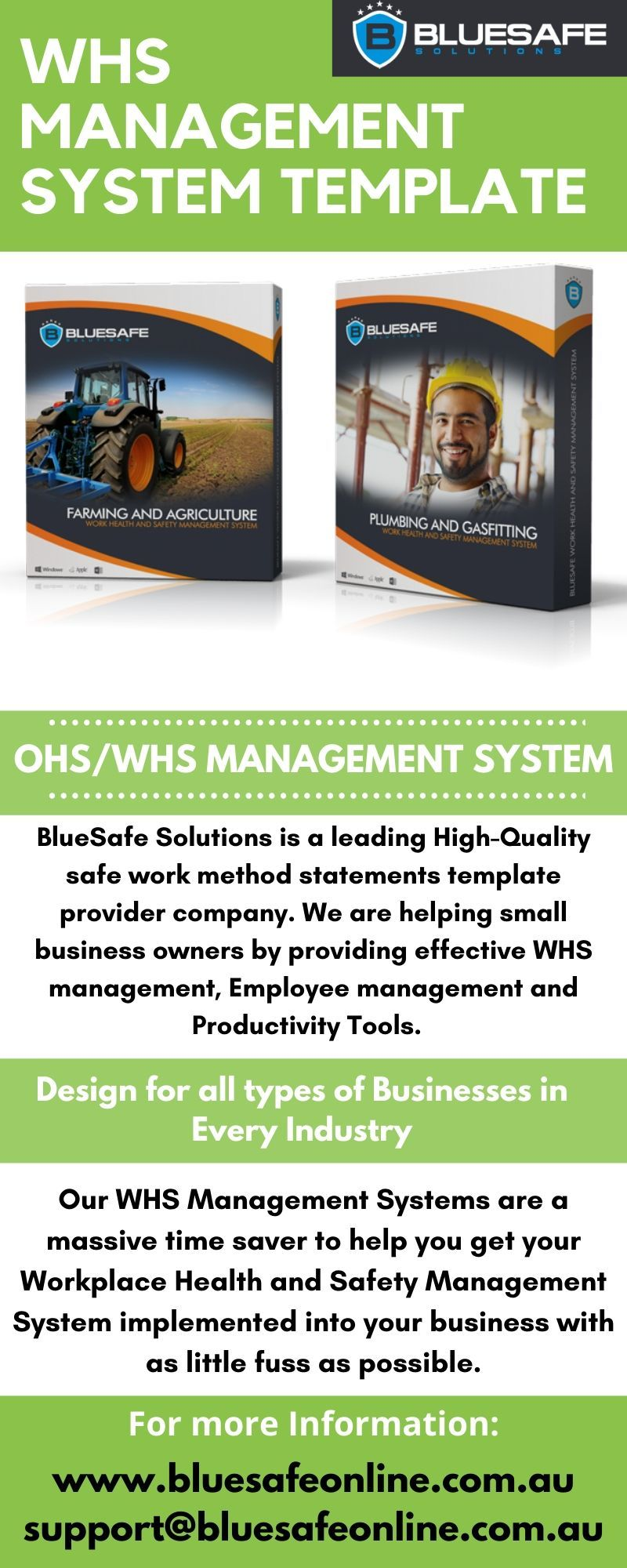 OHS/ WHS Management Systems Online at BlueSafe Solutions