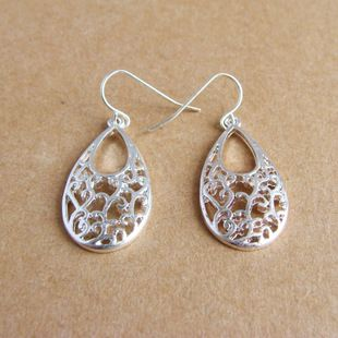 Fashion retro hollow teardrop-shaped earrings, shop at Costwe.com