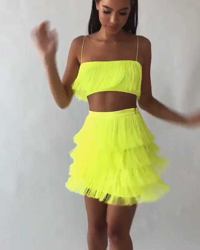 Women sexy club tassel short crop top women tops skirt summer 2 piece set for female women two pieces set skirts white