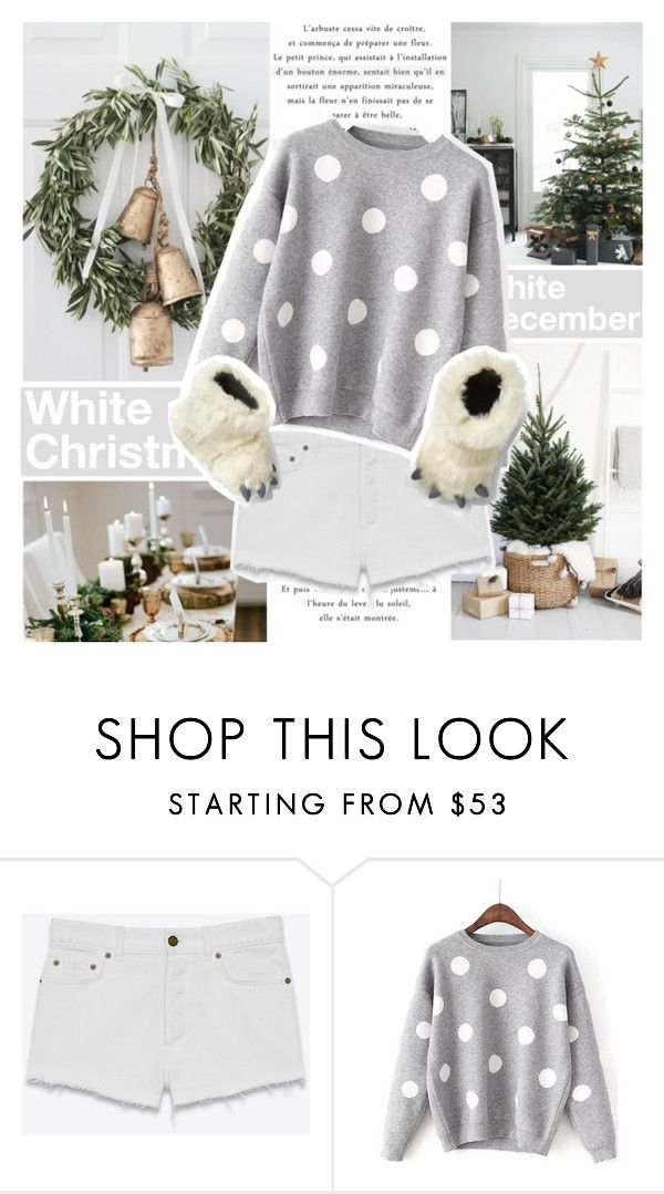 """White Christmas"" by l33l ❤ liked on Polyvore featuring Merrythought, Yves Saint Laurent and Gap"
