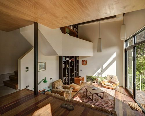 Living room with  high ceiling beautiful blackpool house blends split level home floor plans design also the best ideas for plan ceilings rh pinterest