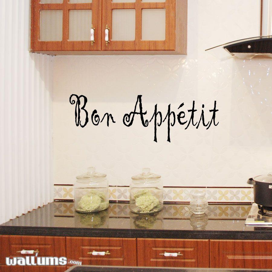 Bon appetit wall art decal kitchen things pinterest bon