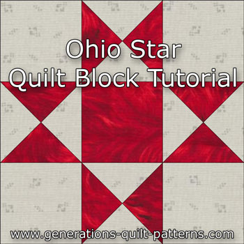 Ohio Star Quilt Block: Illustrated Step-by-Step Instructions in 5 Sizes