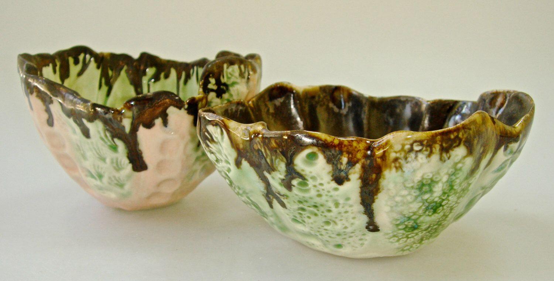 Decorative Ceramic Bowl Decorative Bowl Ceramic Bowl Organic Shape Ice Cream Bowl Lace