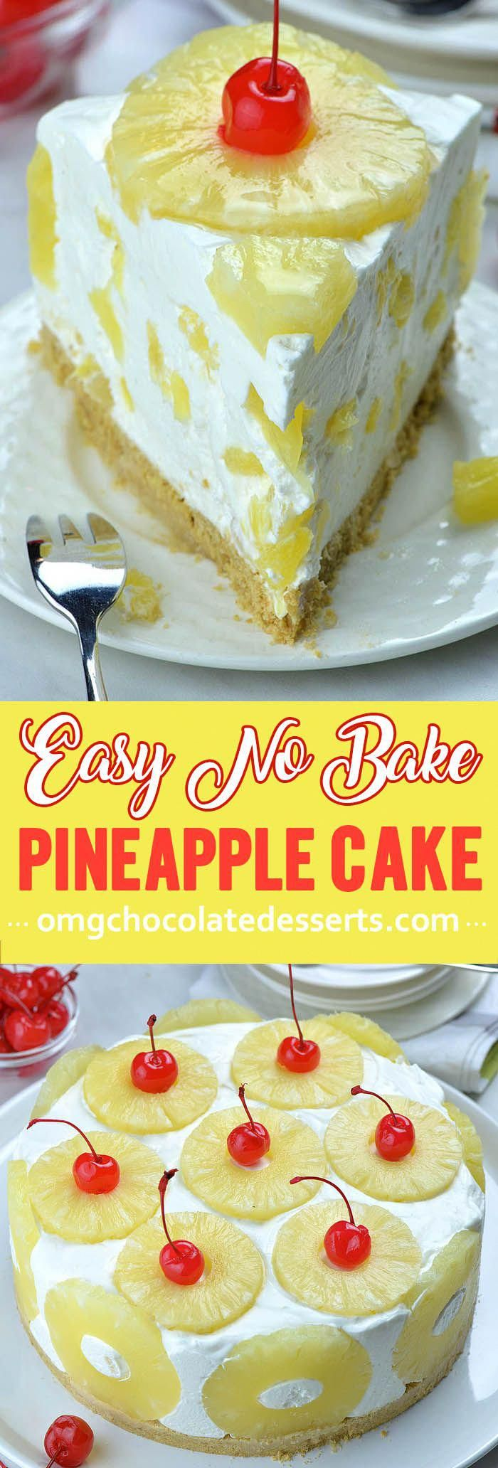 Easy no-bake summery dessert with a creamy pineapple filling. The Best No Bake Pineapple Cake Recipe.