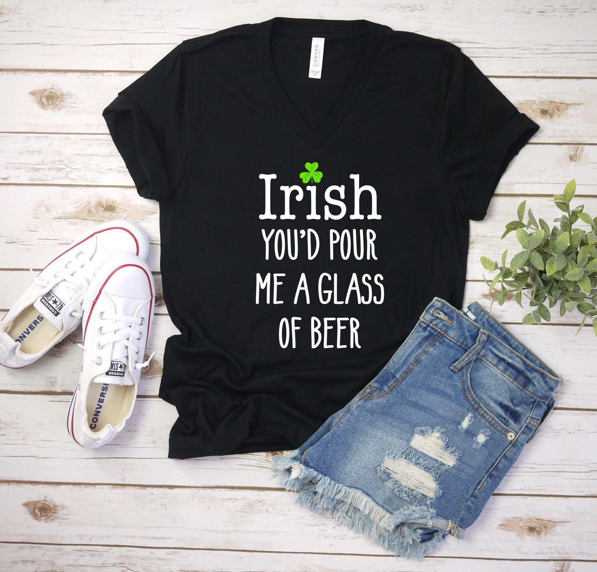 I Love Shamrock Irish Beer Short-Sleeves Tshirts Baby Girls