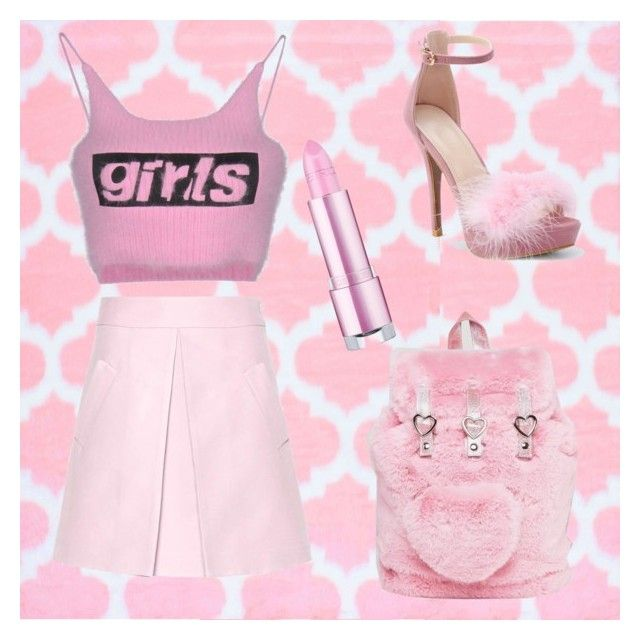 """""""cute girl"""" by dariafrank ❤ liked on Polyvore featuring Lazy Oaf, WithChic, Alexander Wang and Marni"""