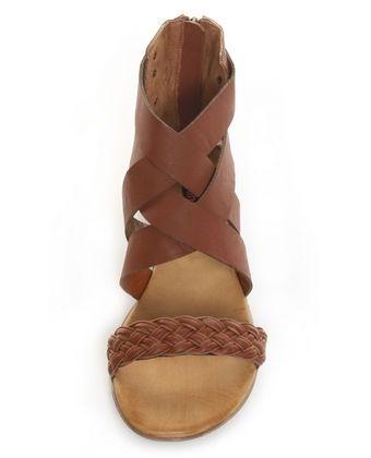 Dollhouse Donavan Tan WeaveTastic Flat Sandals - $28.00 - StyleSays