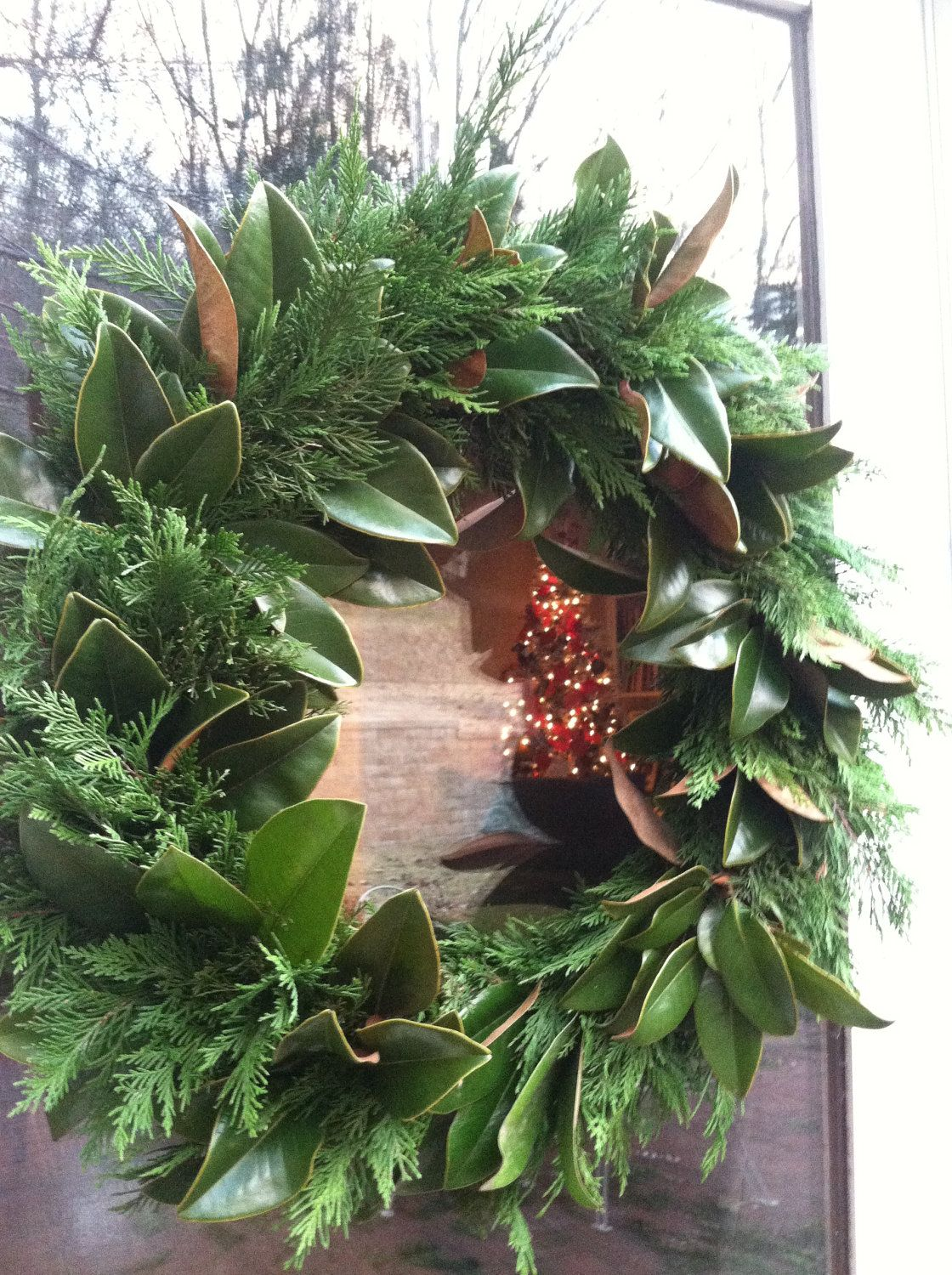 """Photo of Items similar to Fresh 18 """"Natural Wreath Made of Magnolia and Pine on Etsy"""