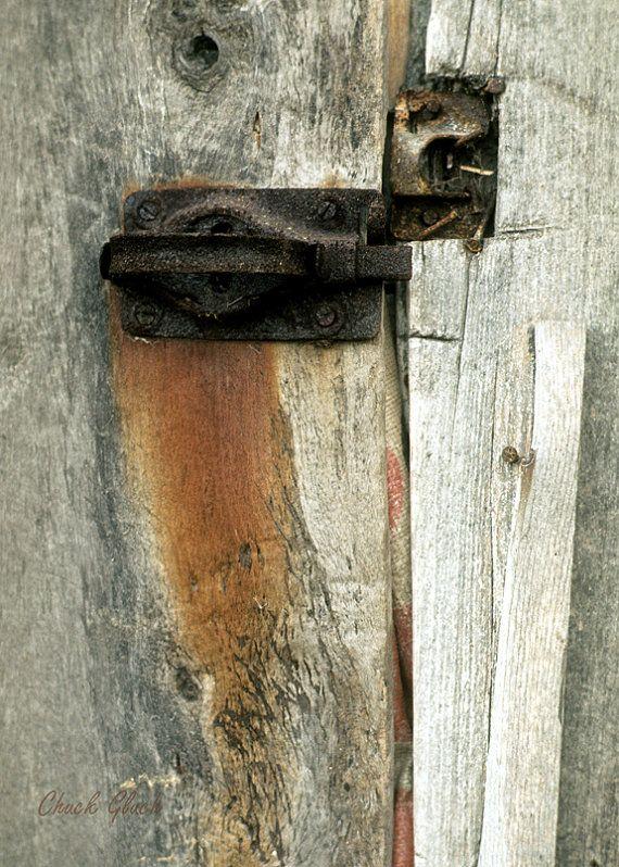 Barn Door Latch Rustic Old Door Latch Latch By Chuckgluchphotoart Barn Door Latch Barn Door Decor Barn Door Locks