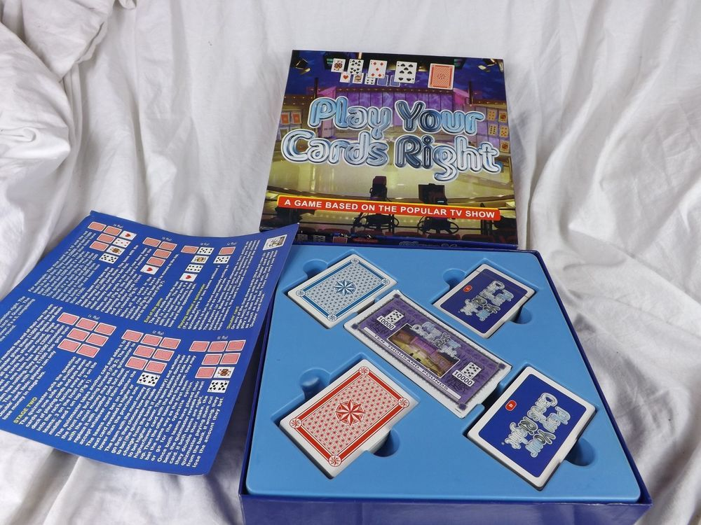 Play Your Cards Right Board Game Based On The Tv Show 2004