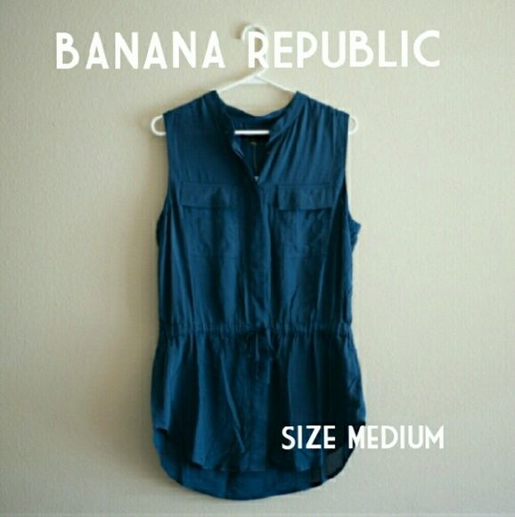 BR Blouse [all measurements are approximate and may differ slightly from what's listed]  New condition, comes with extra buttons. Not a romper.  Bought this from another posher, and decided I didn't like the style. Only tried on. Banana Republic Tops Blouses