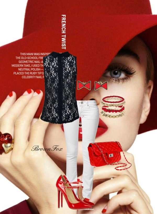 """""""Red Hot Girl"""" by brownfox1 on Polyvore"""