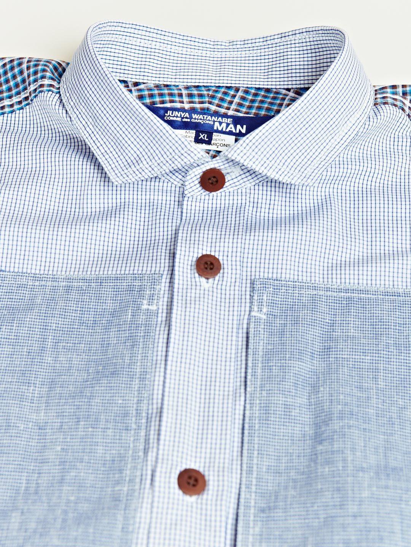 Junya Watanabe Men's Cotton Check Mix Shirt