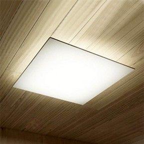Afwasbare plafondlamp Plane, hoekig