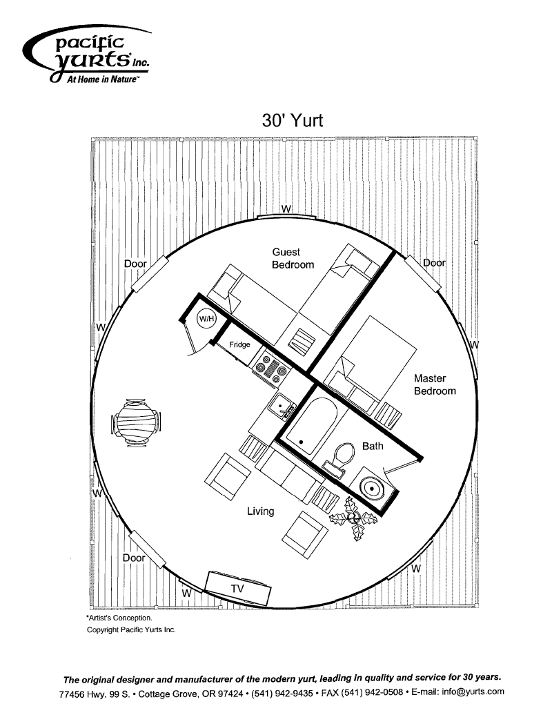 Yurt floor plan more complex than we would ever get into Yurt house plans