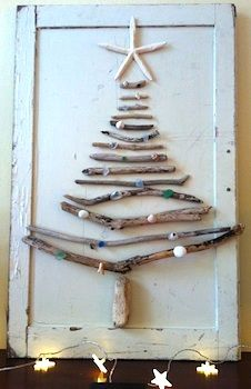 sweet simple tree...instead of using driftwood lichen covered twigs would look nice too...