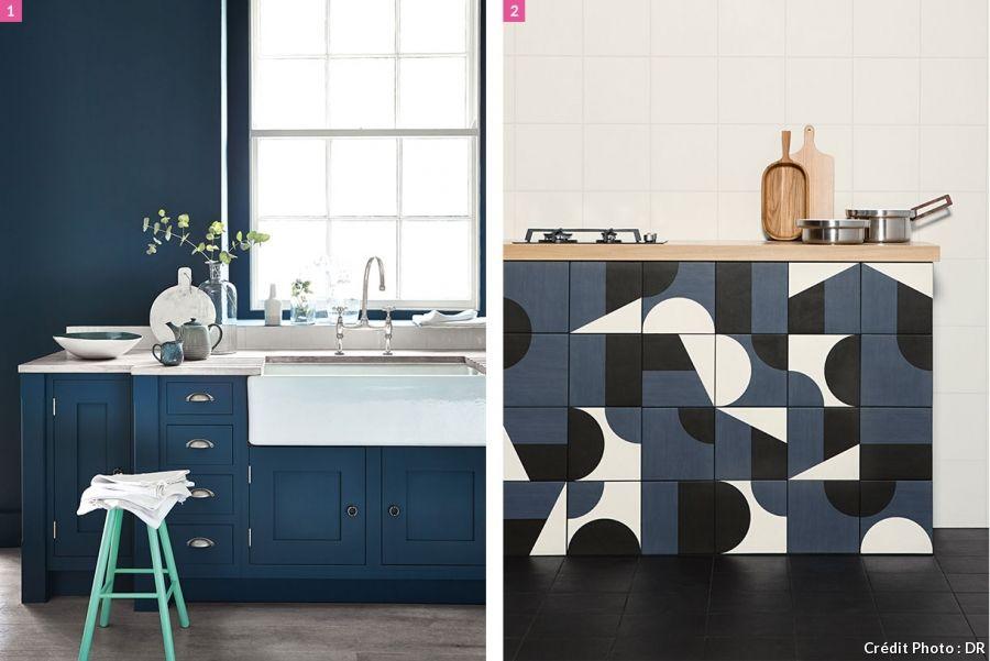 20 inspirations bleu marine pour la maison cuisines bleu - Relooker ses meubles de cuisine ...