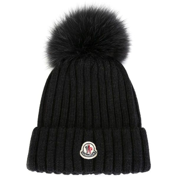 Moncler Bobble Top Beanie 335 Liked On Polyvore Featuring Accessories Hats Grey Grey Hat Moncler Moncler Jacket Women Moncler Women Outfits With Hats