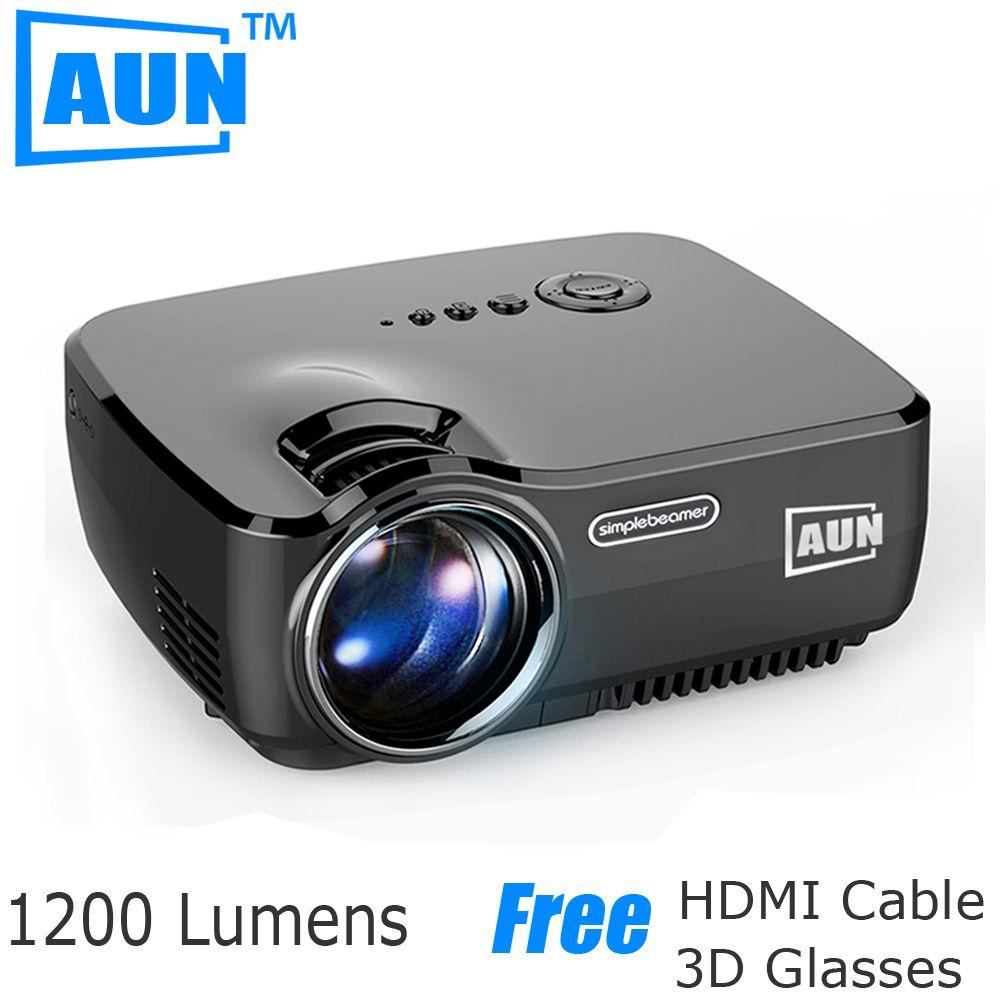 Aun 프로젝터 am01 시리즈 (옵션 안드로이드 프로젝터 내장 와이파이 blutooth 지원 miracast airplay를), 프로젝터 led tv